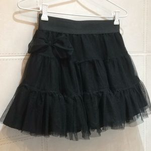 Soft Tulle Mesh Tutu Mini Skirt with Bow